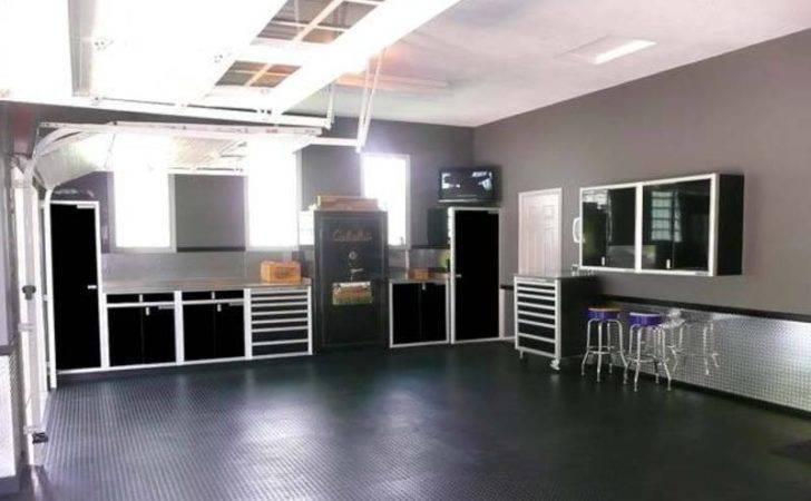 Homey Garage Interior Design Wall
