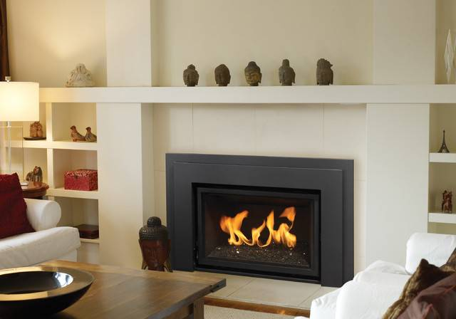 Horizon Hzi Modern Gas Fireplace Insert Contemporary Fireplaces