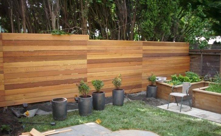 Horizontal Cedar Fence Designs