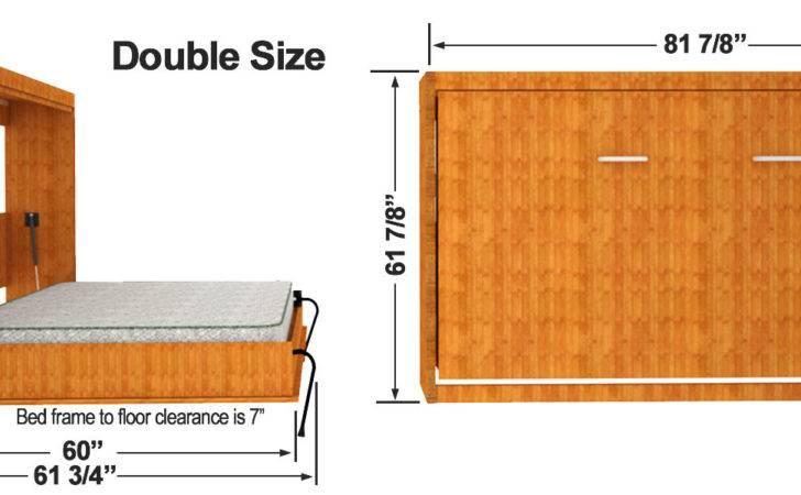 Horizontal Easy Diy Murphy Sizes Bed