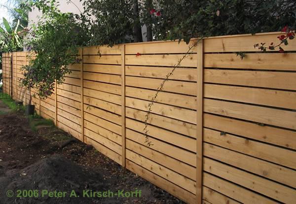 Horizontal Fence Designs Ideas Main