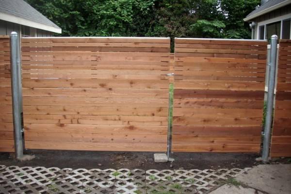 Horizontal Fence Heavy Duty Gate Deck Masters Llc Portland
