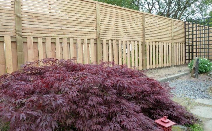 Horizontal Fence Japanese Style Cedar