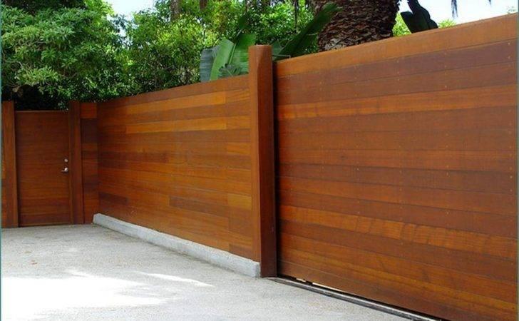 Horizontal Fence Panels Cedar