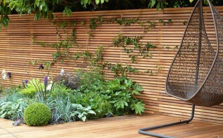 Horizontal Fence Panels Modern Garden Privacy Ideas