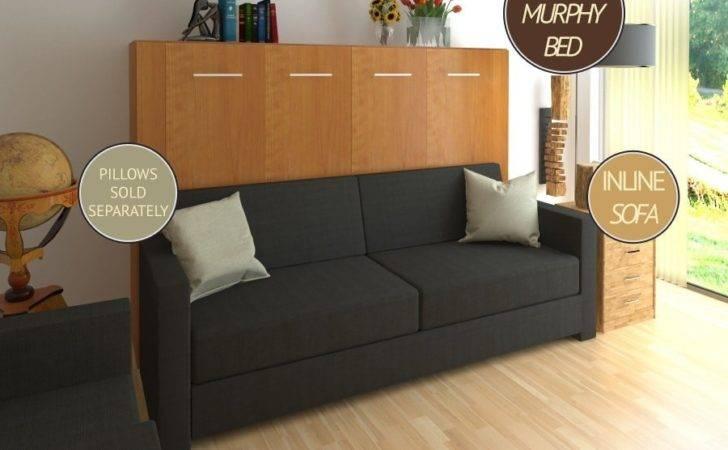 Horizontal Inline Murphy Bed Sofa