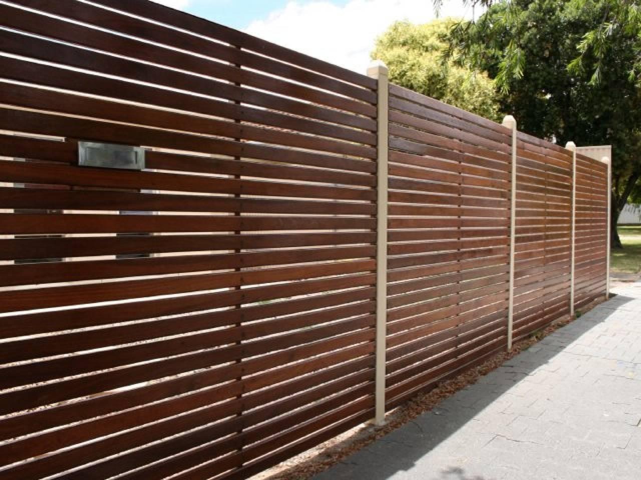 Horizontal Plank Fence Decorative Wood