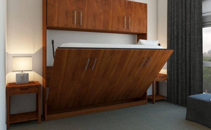 Horizontal Urban Murphy Bed Top Hutch