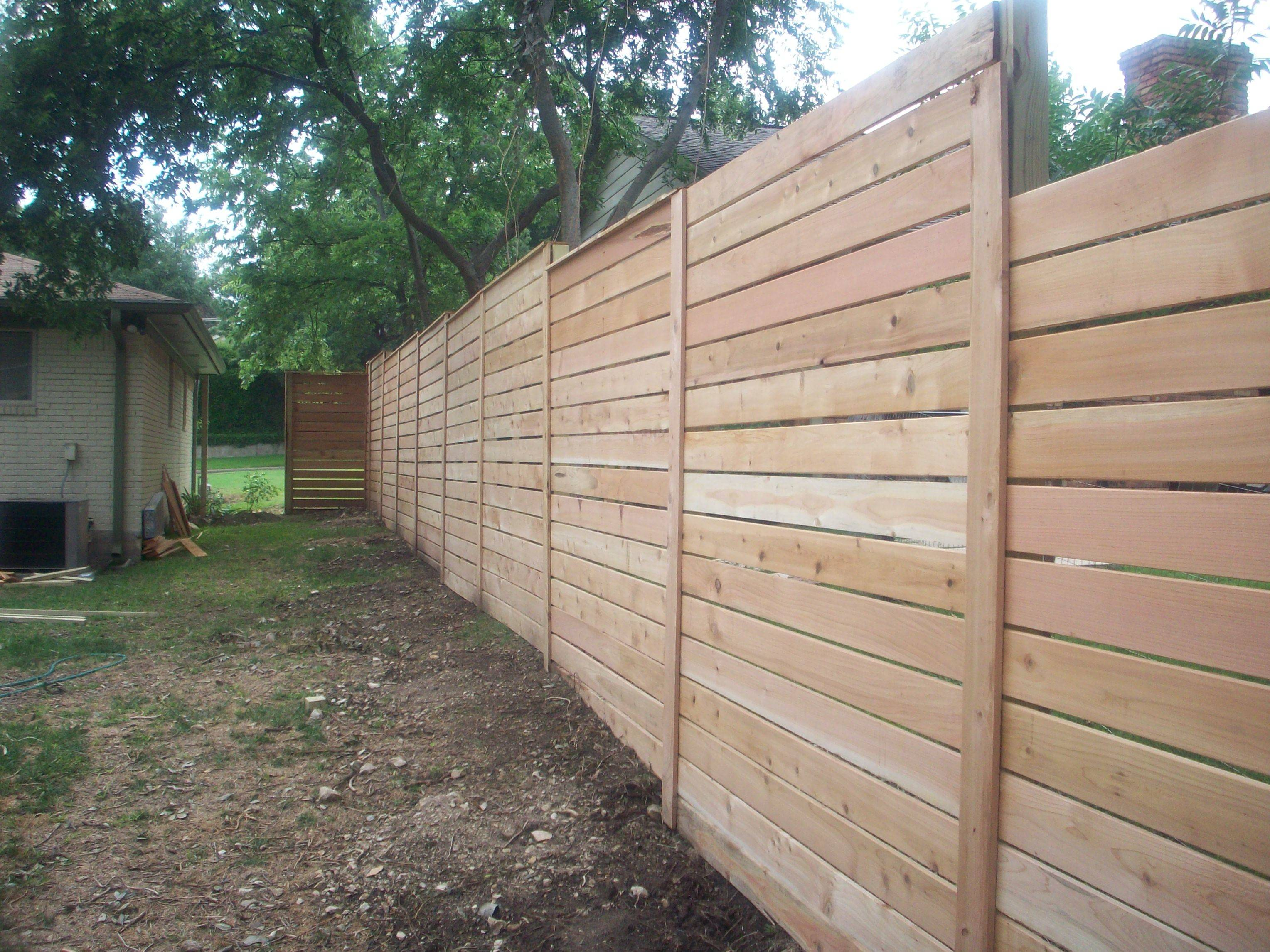 Horizontal Wood Fence Diy Modern Cavender Diary