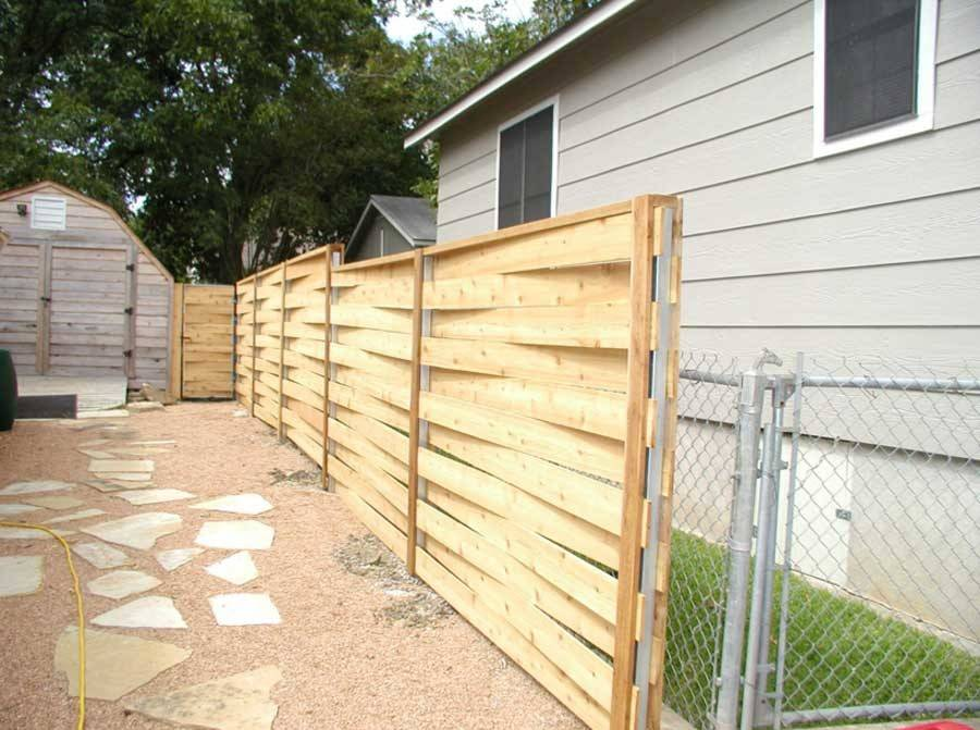 Horizontal Wood Fence Diy Skyline Board Pin
