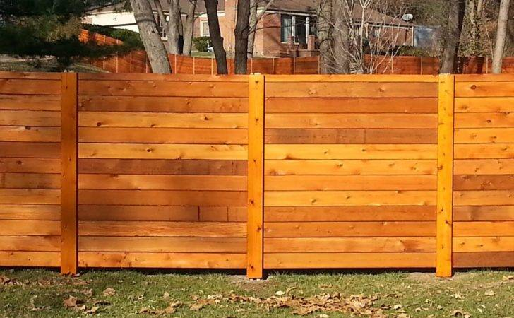 Horizontal Wood Fence Gate