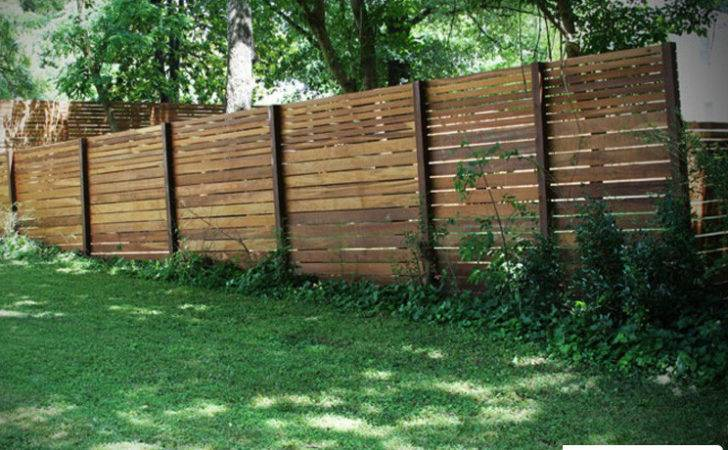 Horizontal Wood Fencing Board Privacy Fence