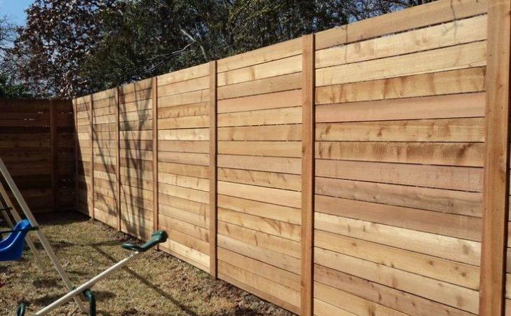 Horizontal Yards Spir Wood Fences Fence