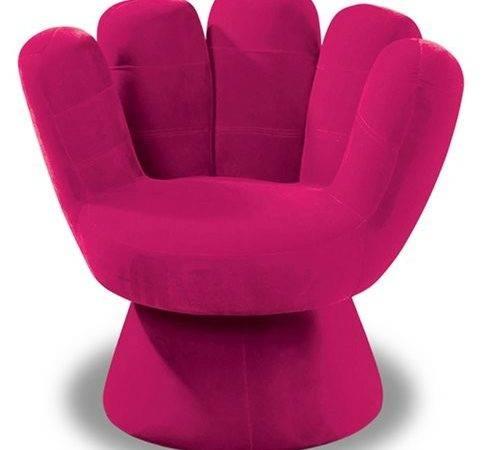 Hot Pink Plush Mitt Chair Teen Girls Cool Novelty Chairs Sale