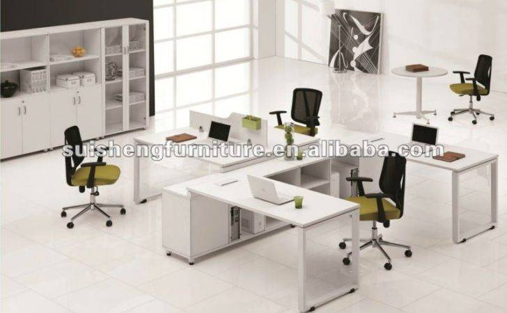 Hot Sale New Design People White Office Partitions Desk Table