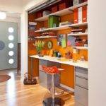 Hot Trend Vibrant Home Offices Bold Orange Brilliance