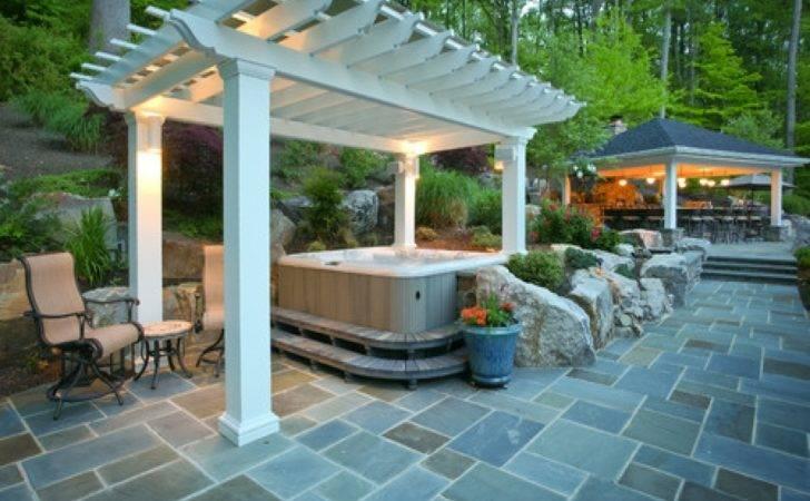 Hot Tub Enclosure Ideas Patio Outdoor