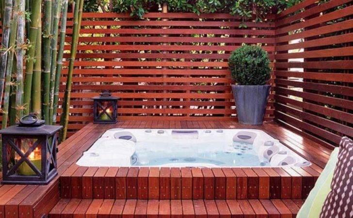 Hot Tub Small Backyard Privacy Screen Home Interior