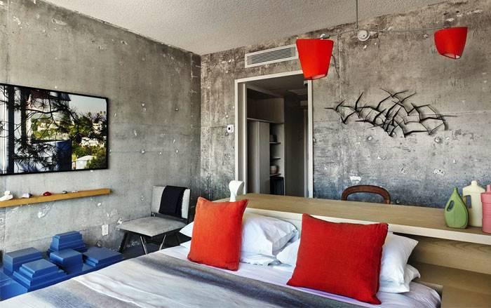 Hotel Concrete Walls Vintage Decor Interiorzine