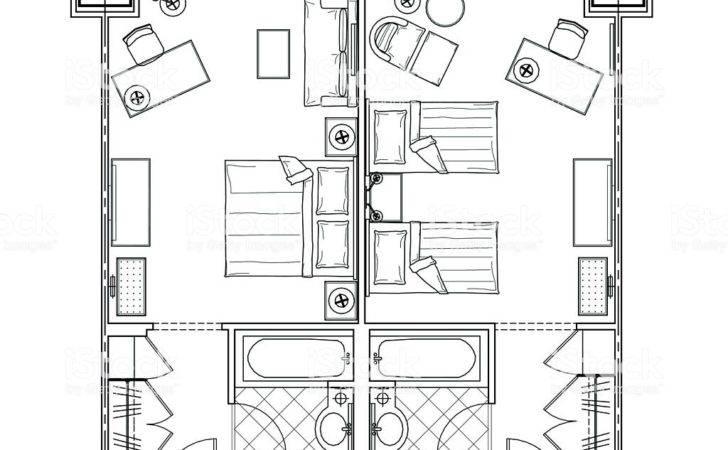 Hotel Room Plan Vector Art Istock