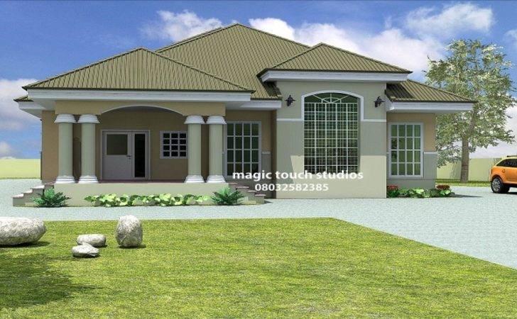House Bedroom Bungalow Plan Nigeria Bed