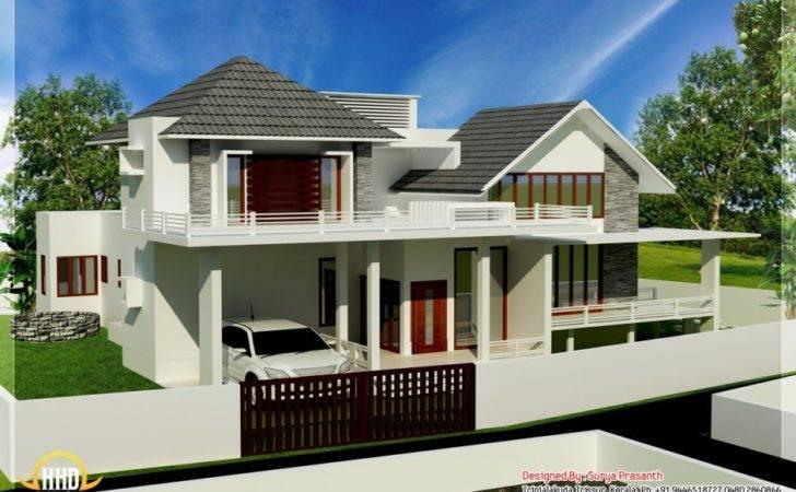 House Design Ideas Balcony Exclusive Mix Home Designs Kerala
