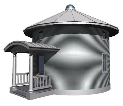 House Floor Plans Furthermore Home Tiny Grain Bin