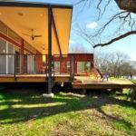 House Modern Green Prefab Near Austin Blanco River