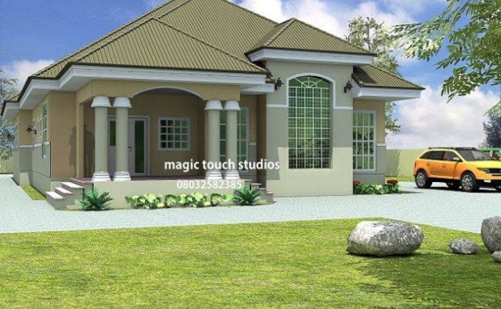 House Plan Nigeria Bedroom Bungalow Ghana Houses