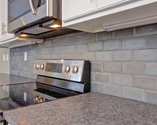 Houzz Concrete Tile Backsplash Design Ideas Remodel
