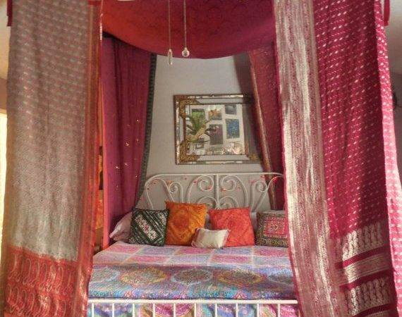 Https Etsy Listing Bohemian Gypsy Bed Canopy Tent