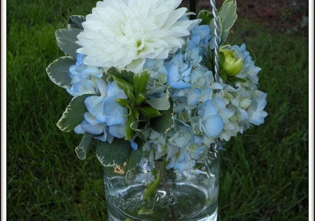 Hydrangea Bouquets Mason Jar Centerpieces Real