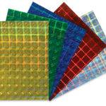 Hygloss Holographic Self Adhesive Paper Blick Art
