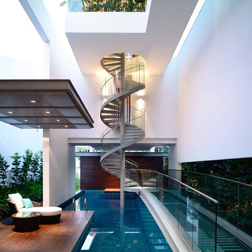 Hyla Architects Arranges Singaporean Home Around Spiral Staircase
