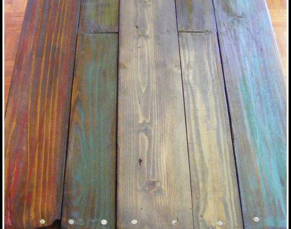 Idea Paint Stain Reclaimed Pallet Wood Table Casters