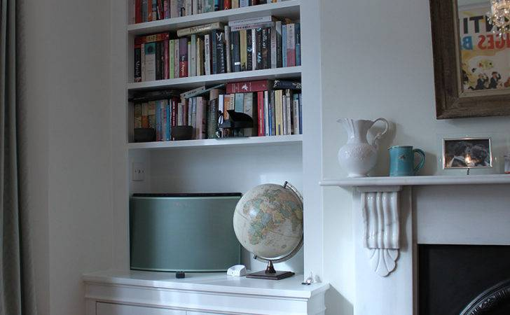 Ideas Alcove Bedroom Shelving