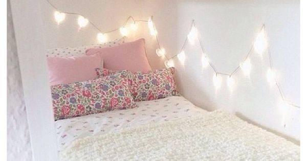 Ideas Bedroom Pinterest Fairy Lights Room Cream Pink