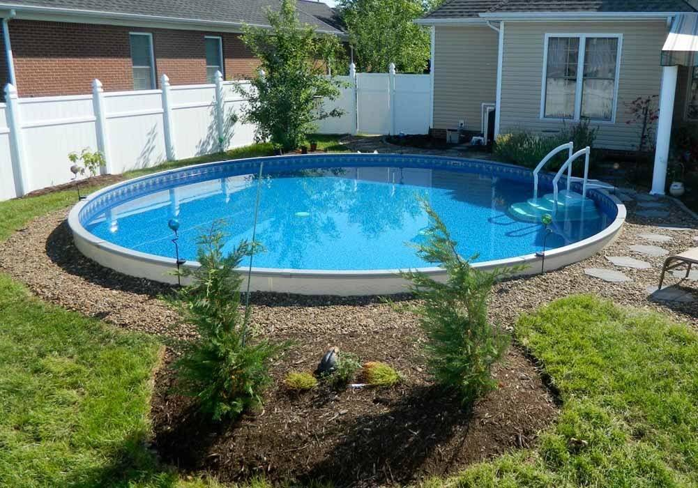 Ideas Benefits Semi Inground Pool Backyard