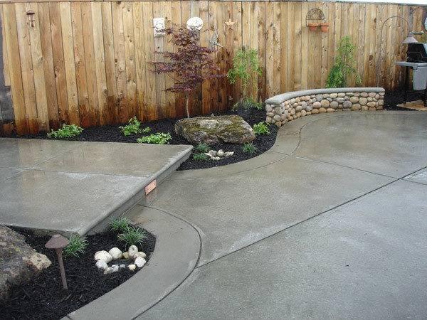 Ideas Concrete Patio Outdoor Garden Deck