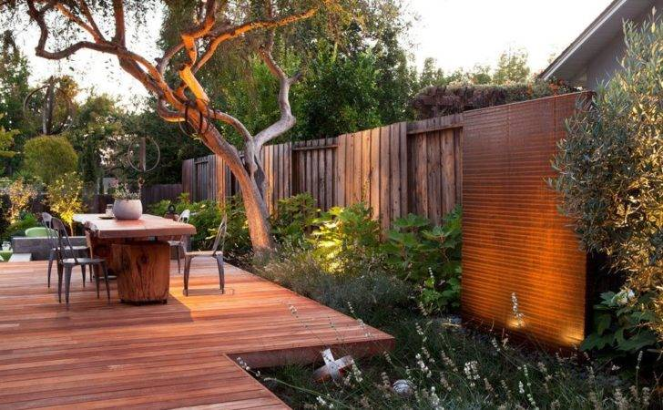 Ideas Deck Contemporary Wood Fence Outdoor Dining