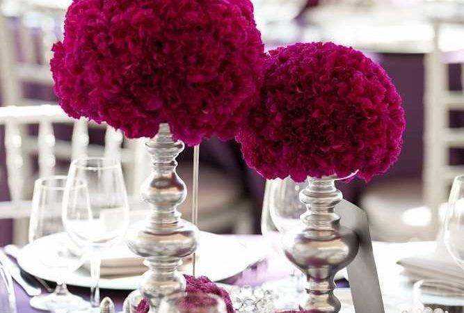 Ideas Decor Pomander Centerpieces Burgundy Wedding