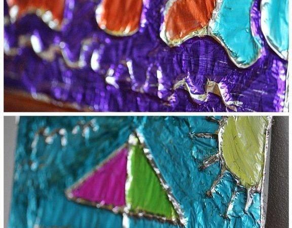 Ideas Foil Art Pinterest Best Glue Metal Tin