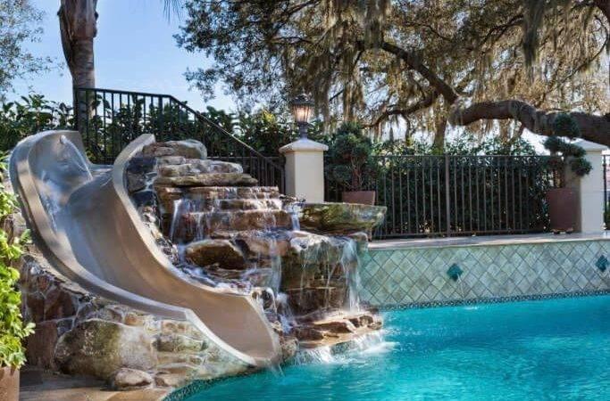 Ideas Pool Slides Pinterest Swimming Pools