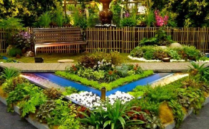 Ideas Small Triangular Gardens Enchanting Gardening Plant