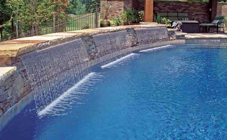 Ideas Swimming Pool Cascade Waterfall Idea Pinterest