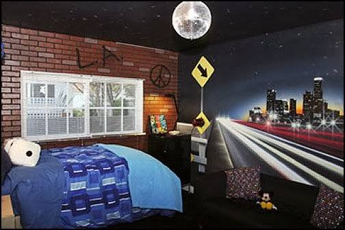 Ideas Urban Bedrooms Skater Theme Style Decorating