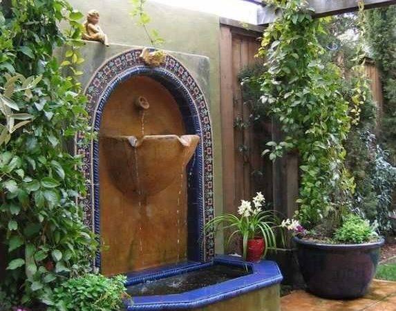 Ideas Water Features Outdoor Mediterranean Patio Backyard Garden