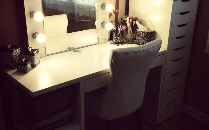 Ikea Alex Mickey Desk Diy Makeup Vanity Cool Ideas