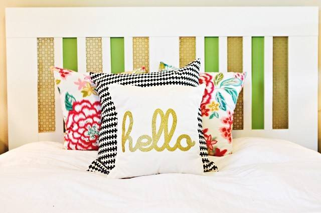 Ikea Brimnes Headboard Hack Plain White Bold Stripes