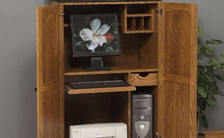 Ikea Corner Computer Armoire Office Furniture
